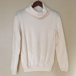Charter Club 100% cashmere ivory cowl sweater   M